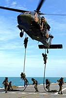 Military Helicopter Rescue Ropes